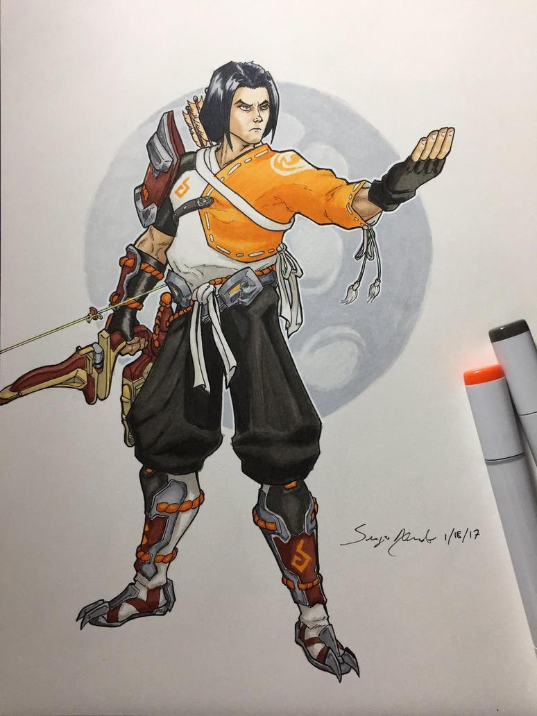 Hanzo from Overwatch  by amonkeyonacid