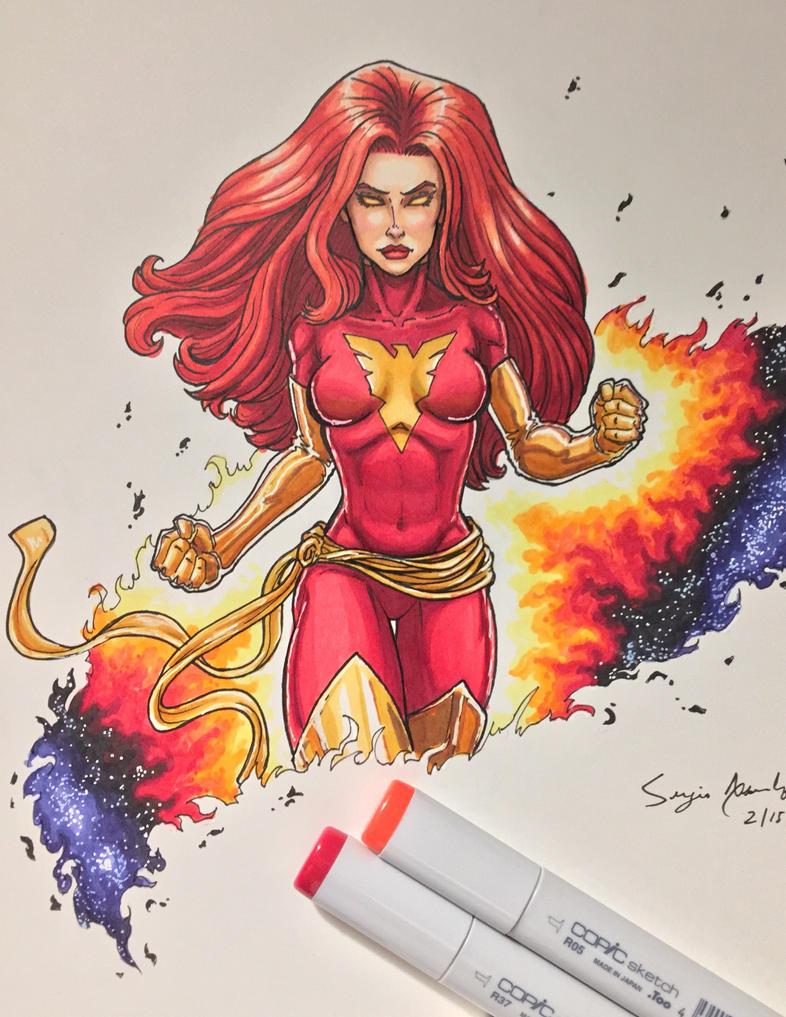 Dark Phoenix by amonkeyonacid