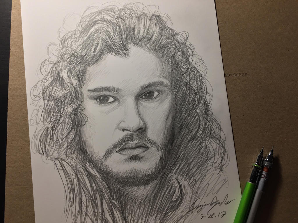 Jon Snow sketch  by amonkeyonacid