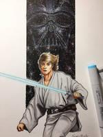 Luke Skywalker / Vader  by amonkeyonacid