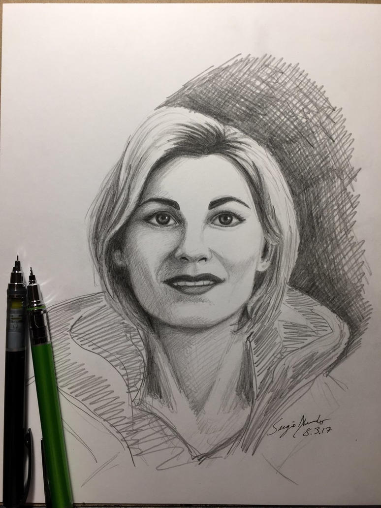 The Thirteenth Doctor sketch by amonkeyonacid