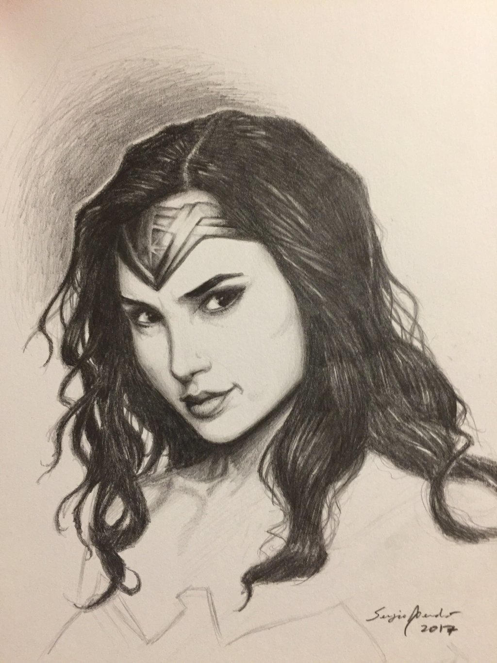 Wonder Woman portrait  by amonkeyonacid
