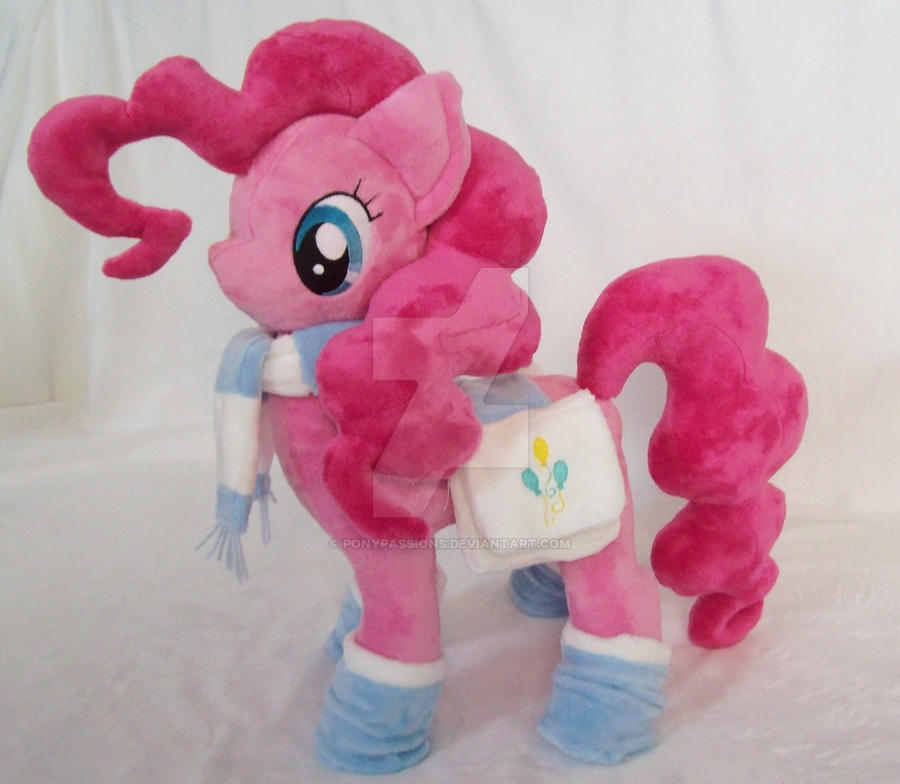 Pinkie Pie With Accessories Custom Minky Plush by ponypassions
