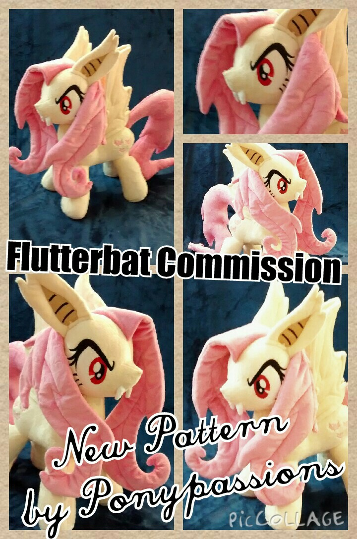 MLP Flutterbat Plush New Pattern by Ponypassions by ponypassions