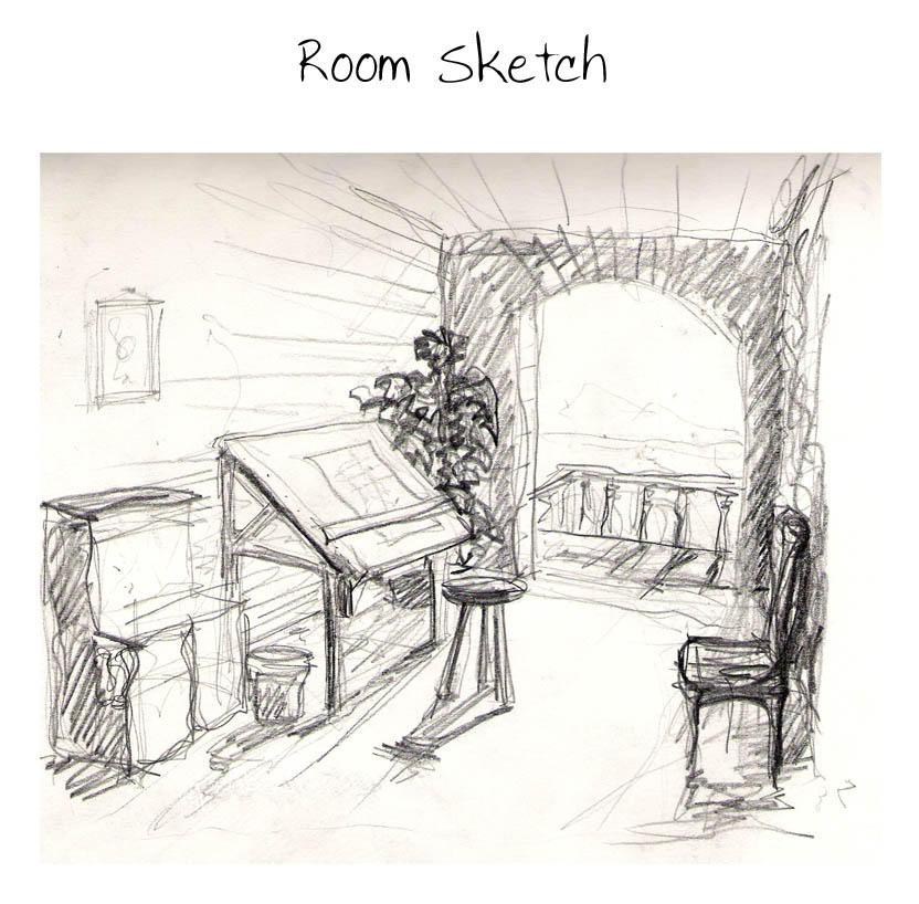 room sketch by gimli131 on deviantart