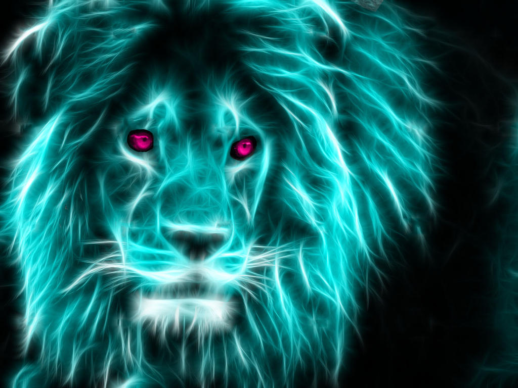 Neon Lion by TheFerraci on DeviantArt