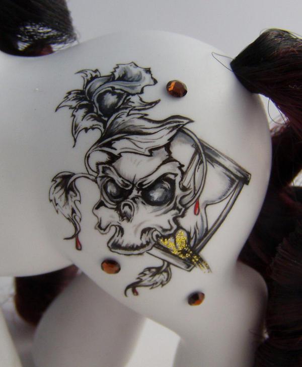 Tarot Death symbol close-up by eponyart