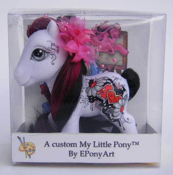 OOAK Custom Pony Black Magic by eponyart