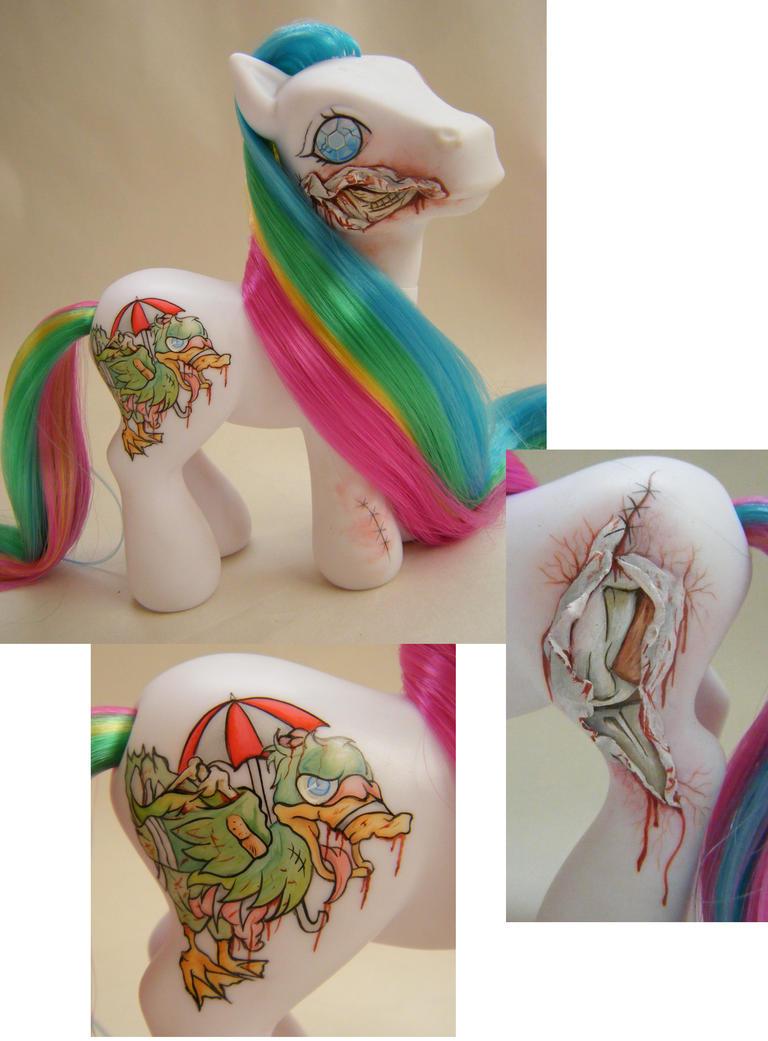Custom Pony Zombie Quackers by eponyart