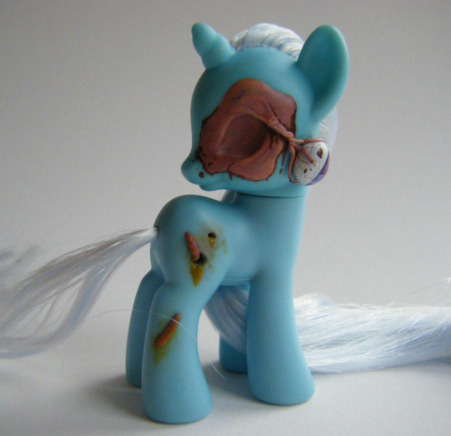 OOAK My Little Pony FiM G4 Zombie Trixie by eponyart