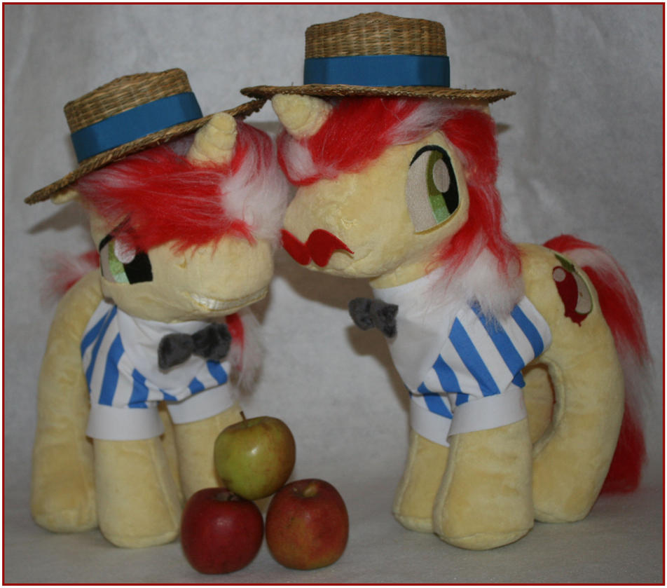 Custom FIM my little pony plush Flim and Flam by eponyart