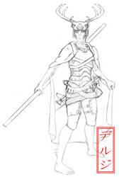 Kawa Uta Sketch by Deruji