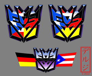 Decepticon logo  with Flags by Deruji samples by Deruji