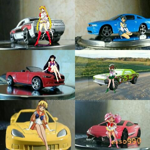 Sailor Scouts and Sports Cars by Atkocaitis