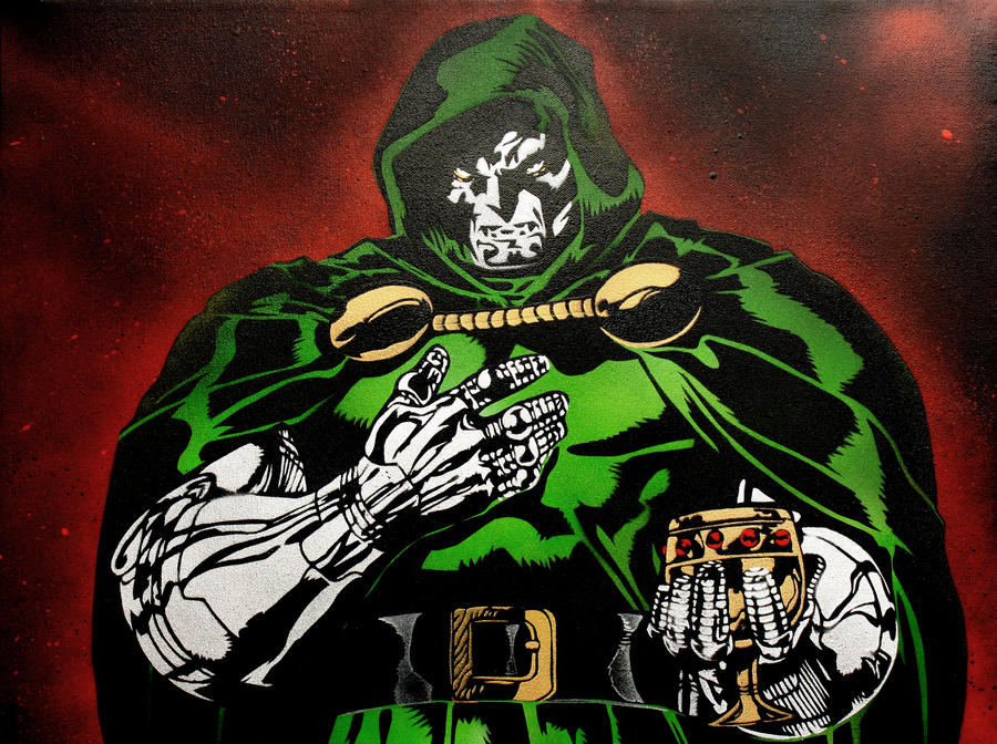 Doctor Doom Face Paint