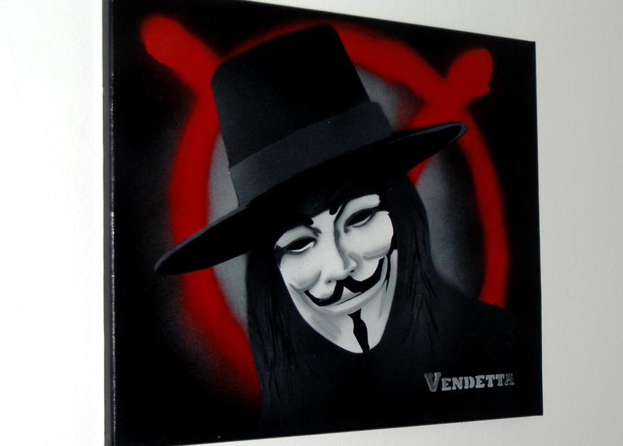 V For Vendetta Painting V for Vendetta Painting by