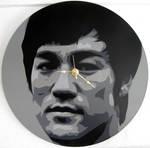 Bruce Lee Vinyl Clock by Gcrackle1