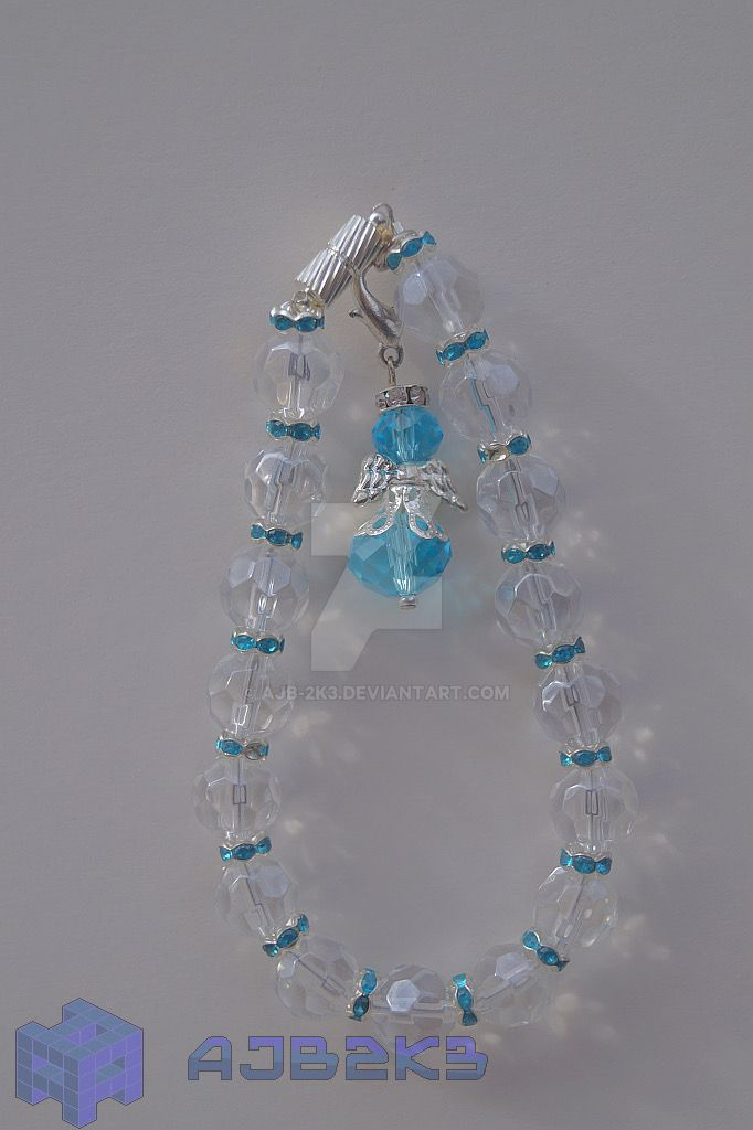 Sky Blue Crystal Angel Bracelet by ajb-2k3