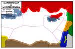 Maritime Map of Mediterranean