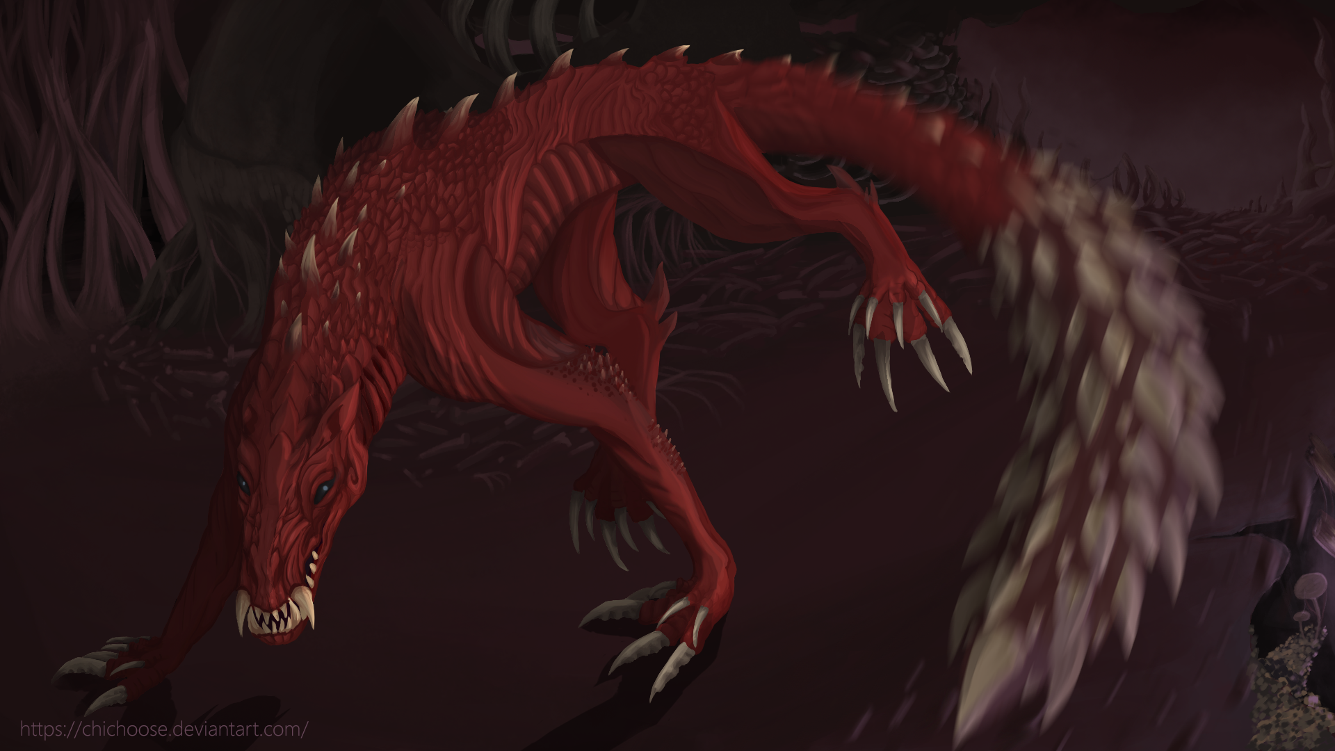 Odogaron Monster Hunter World Fanart Speedpaint By Chichoose On