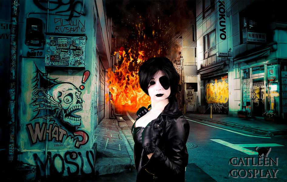 Domino (Marvel) by CatleenCosplay