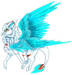 Commission angel dragon