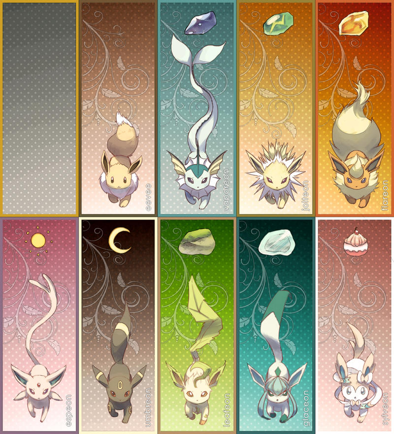Pkmn Eeveelution Bookmarks By Veetasoy On Deviantart