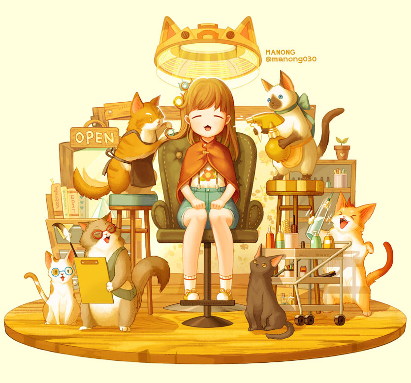cat hair salon by MANONG1