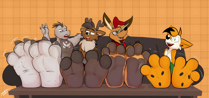 Lounging Paw Dudes