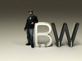 3D - BlackWhite Logo by AlexandreGuilbeault