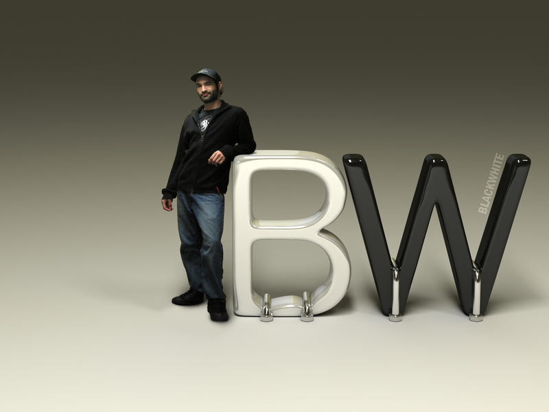 3D - BlackWhite Logo by AlexandreGuilbeault