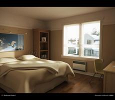 3D - Bedroom Project by AlexandreGuilbeault