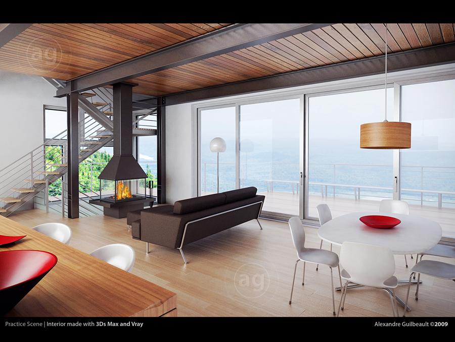 Living Room - 3D by AlexandreGuilbeault