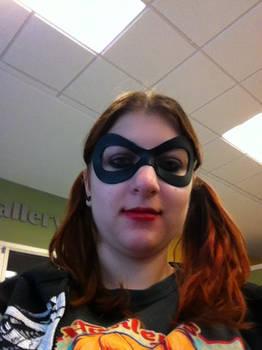 Harley Quinn Cosplay Mask red hair