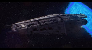 Terran Alliance Warship: Raptor's Wrath 1 by Dreamer-Out-There
