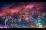 Tharsis City on Mars