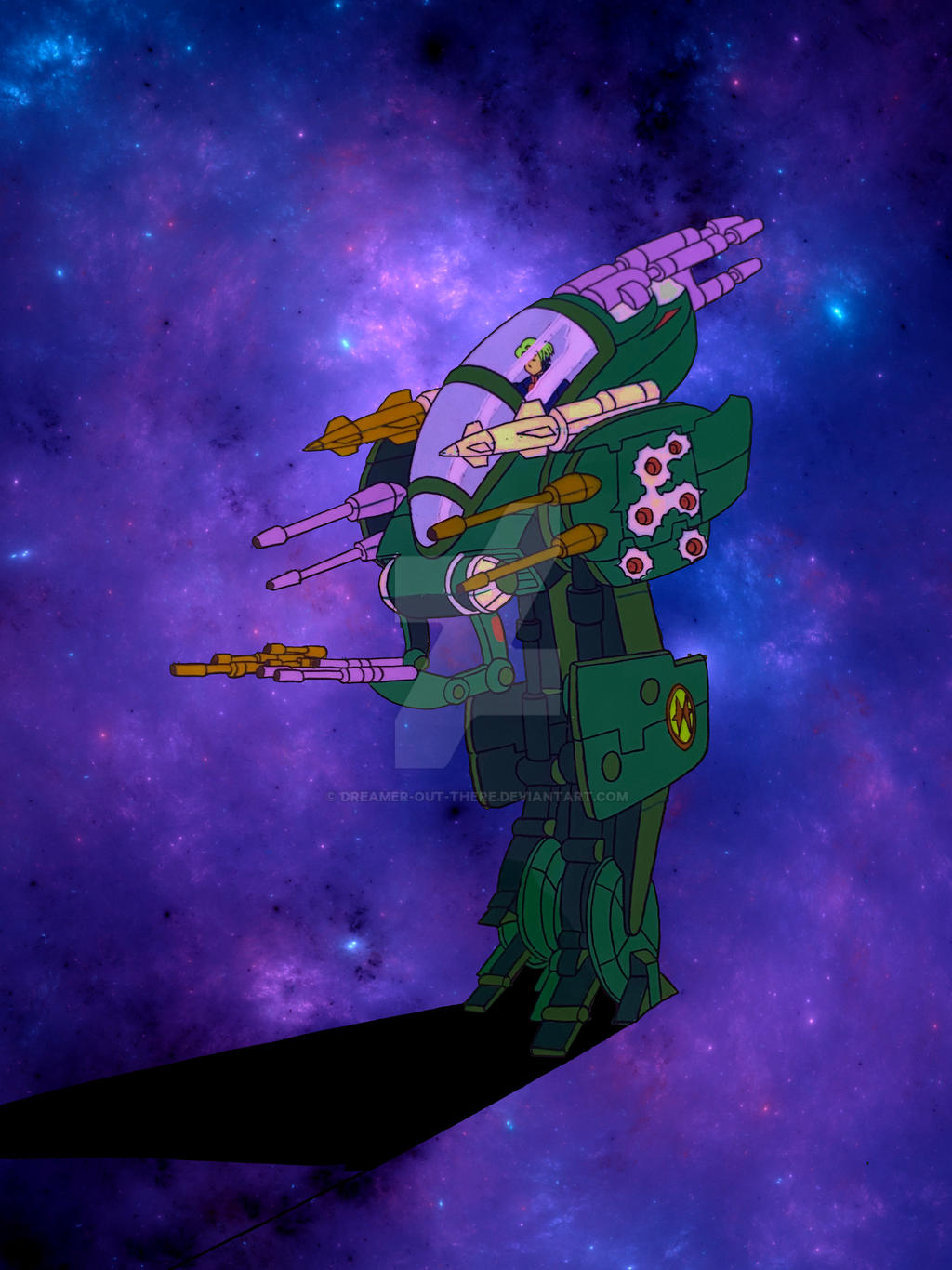 Nara Burns / Rapid Assault E-Frame animation cel