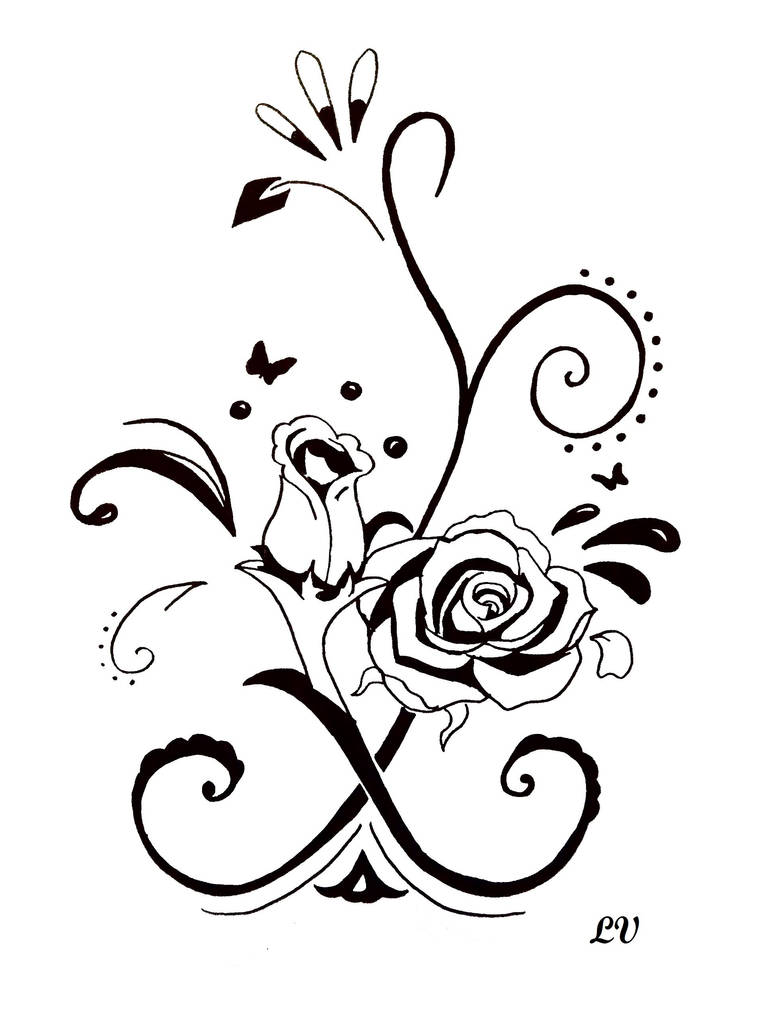Tatoo Rose Noir Et Blanc By Lolobild On Deviantart