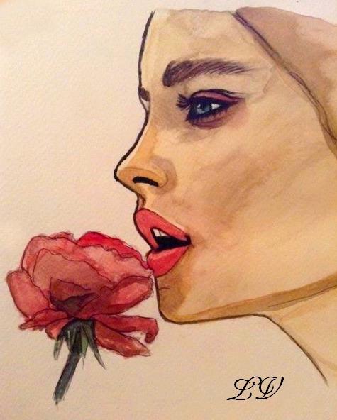 femme rose by lolobild