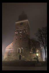Cathedral in fog by fbjon