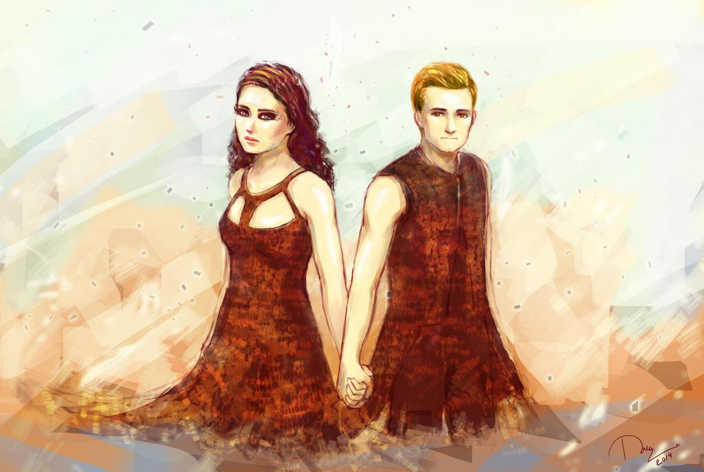 Katniss & Peeta - Catching Fire movie Fan Art (34426692