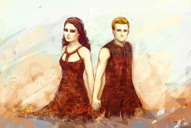 Catching Fire: Peeta - Katniss by NightHunter93
