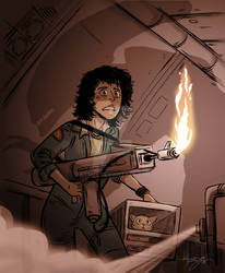 Ripley, Jones and Xenomorph Commission for Daryl