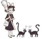 inktober 11- black cats chatting
