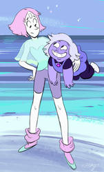 Pearl and lil Amethyst