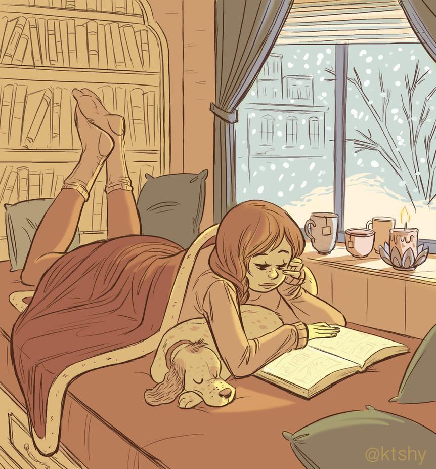 Cozy Book Nook by ktshy