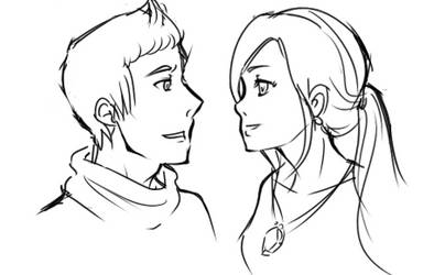 OC Sketch Phin and Cariss