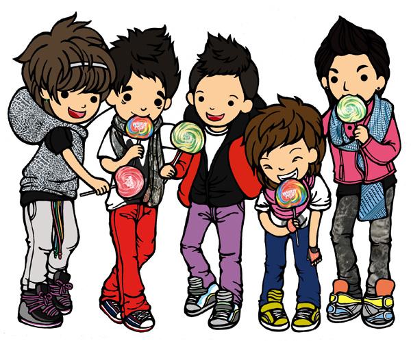 Hình manga của các nhóm nhạc Hàn - Page 2 BigBang_with_lollipop_by_hedpie