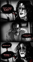 'Crow' film illustration strip by Kelley-Michelle