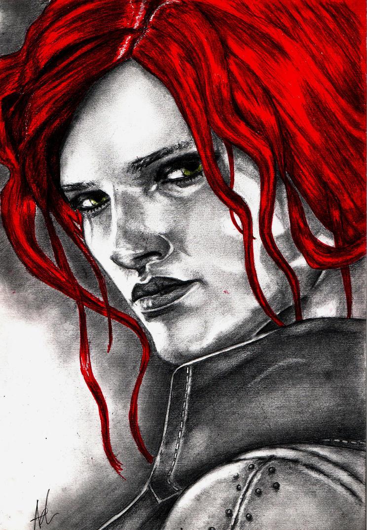 Triss ( The Witcher 2) by RebellionAngel